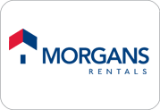 Our current Morgans Rentals logo
